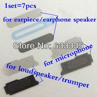 Original loudspeaker trumpet microphone earpiece earphone speaker anti-dust dustproof mesh net for iPhone 4 4g 4S 4GS Free Ship