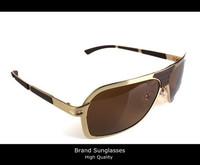 2013 High Quality HOT fashion men brand designer Gold frame polarized driving sunglasses with original box free shipping