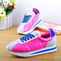 2013 nubuck leather paillette fashion color block lacing sports shoes neon bright color women's casual shoes sport shoes