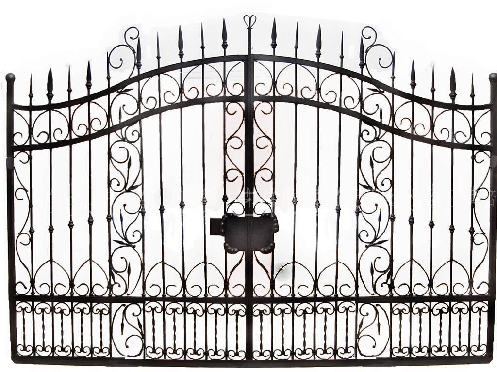 Porte de jardin en fer forg portail for Portillon de jardin fer forge