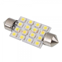 New 42mm Car Interior 16 LED White SMD light 3528 Dome lamp Bulb 211-2 212-2 578