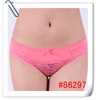 Women's 100% cotton panties women's decoration fashion lace briefs cotton 100% transparent lace Women