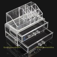 Fashional Acrylic Cosmetic Organizer Drawer Makeup Case Storage Insert Holder Box #QbO