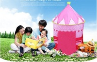 FEDEX FREE! 100pcs/lot Lovely Prince & Princess Palace Castle Children Play Tent Toy Indoor & Outdoor,blue and pink colors mixed