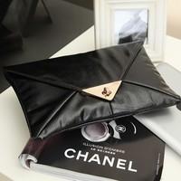 2013 black envelope bag fashion bag small fashion dinner party day clutch spring women's brief handbag