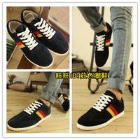 2013 New England Style Men's breathable spell color cotton flat with the leisure fashion comfortable shoes free shipping