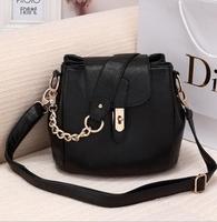 Free Shipping New Fashion Handbags Korean  PU  Leather Handbag Shoulder Bag Large Capacity
