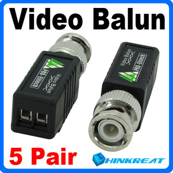 10Pcs/Set UTP Network Video Balun CAT5 to Camera CCTV BNC DVR Free Shipping