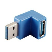 Free shipping New USB 3.0 A Male to Female M/F connector extension adapter  90 degree right angle 20pcs/lot