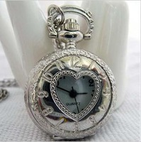 Round High Quality No Cover Roman Dfdd783 Flower Copper Tone Glass Pocket Watch 10pcs/lot#(free Ship)