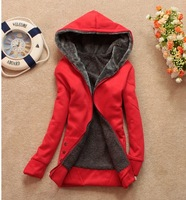 2013 new women's fleece fashion plus  velvet long-sleeve cardigan female Ladies outwear coat