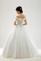 Free Shipping S620 The Word Shoulder Customized Fashion Princess Wedding 2013 latest Wedding Dress