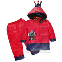 Royal baby child down coat set male female child baby equipment baby winter