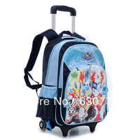 Free shipping new children trolley bags for male and female students with a detachable shoulder bag on wheels Recoil