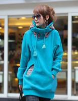 new jacket 2014 women's hooded thickening sweatshirt plus hoodies velvet long-sleeve cardigan female sweatshirt Ladies outwe