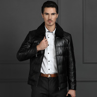 Free shipping! 100% genuine! 2013 leather clothing down coat male berber fleece genuine leather down coat outerwear lj8860