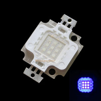 free shipping 10W High Power LED UV Light 395-400nm 30LM Ultra Violet Chip Bead Bulb Lamp