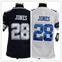 Youth 28 Felix Jones  American football Jersey,Cheap  kids Sports Jersey,Embroidery logos,Mix order