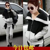 London 3pcs/set !2014 Autumn Winter New Fashion Plus size Casual Women's Hoodie Coat Thickening fleece Sweatshirt Outerwear