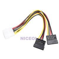 NI5L 4Pin IDE to 2 Serial ATA SATA Y Splitter Hard Drive Power Adapter Cable