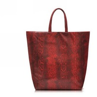 H1662 EE EL RED PU Vintage Retro TOTE SHOPPING BAG Free shipping wholesale drop shipping J13