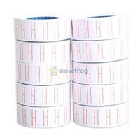 10x Paper Tag Price Label Sticker Single Row for MX-5500 Price Gun Labeller S7NF