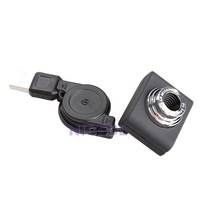NI5L Mini 5 Mega-pixel Webcam USB 2.0 Web Cam with Stretchable Cable for Laptop