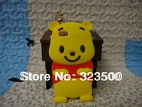 10PCS/LOT SILICON CASE FOR IPHONE 5 LOVELY BEAR CAPA PARA CELULAR