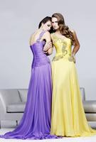 Custom Size Floral Beading One-shoulder Floor Length Zipper Back Formal Evening Dress 2013