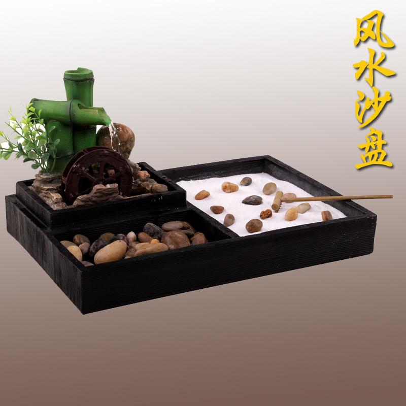 Car-sand-table-fountain-lucky-feng-shui-wheel-water-fountain-resin ...