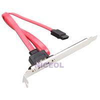NI5L Computer Case Baffle Internal SATA to ESATA External PCI Slot Cable Bracket