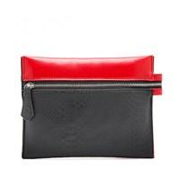 H1519 II RED BLACK BICOLOR Python Serpentine bag make up organizer storage Clutch Free shipping wholesale dropshipping
