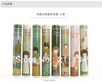 Free Shipping!! 30 Pcs Garden Girl Round Tin Pencil Box Pencil holder Tin Pen Box Pencil Box Tin Pencil Case