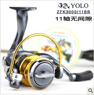 Drop Shipping YOLO3000 Spinning Reel 11 Ball Bearings 5.2:1 Fishing Reel Lure Fishing Reel