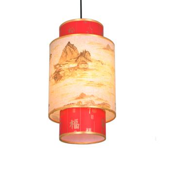 Chinese style wrought iron pendant light sheepskin lamp antique pendant light decoration lamps 3036