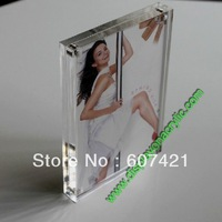 """5unit/Lot  Modern Christmas Gifts 4x6"""" Clear Plexiglass Photo Picture Frame With Magnetic"""