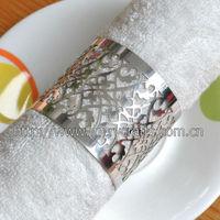 laser cut wedding decoration excellent silver wedding table filigree napkin rings