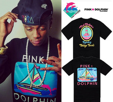 new 2013 plus size t shirt men SOULJA BOY hip hop pink dolphin t shirts black rock big size t shirts M-5XL(China (Mainland))