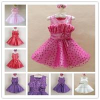 Hot Sales Beauty pageant dresses for girls New 2013 Flower firls dresses holiday evening dress 6 pcs lot XJ1010