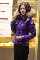 2012 winter new arrival large fur collar short coat female design down outerwear