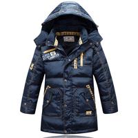 Free shipping child down coat male child medium-long  thickening winter down coat