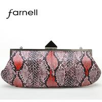 high quality python skin one shoulder women's handbag banquet fashion elegant small bag