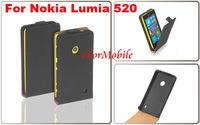 Free shipping Genuine Leather Case Flip Phone Case Mobile Phone Case For Nokia Lumia 520