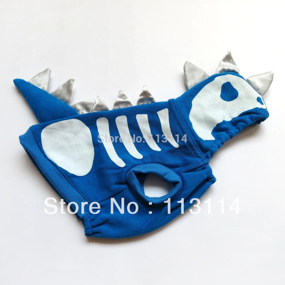 Blue SKULL Dog Hallowmas Costume Dog Hoodie Coat Pet Apparel Pet Apparel Dog Clothes XS S M L XL free shipping(China (Mainland))