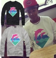 new 2013 plus size  hoody pink dolphin hip hop pullovers hoodies big size sweatshirts M-4XL