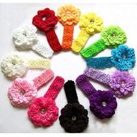 Free Shipping 1set(12pcs) Kid Baby Girl Peony Headband Hairband Hairbow Hair Flower Clip Headwear