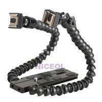 NI5L Flexible Flash Bracket Holder Dual-arm Joint for MACRO SHOT  Universal