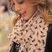 Free Shipping 2013 Designer Pattern Sexy Cat Scarf Fashion Neckerchief Chiffon Silk Brand Women Scarves