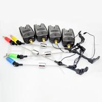 Free shipping fishing bite alarm with illuminated fishing swinger and pva bags for carp fishing