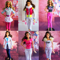 17 piece / lot Super beautiful Autumn and winter fashion doll casual The 6 paragraph multicolour Free shipping